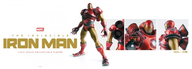 Marvel ThreeA Toys Iron Man Classic Red and Gold Figure