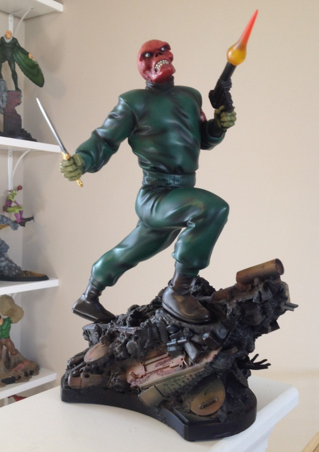 Red Skull Action Pose Statue Bowen Designs 2014 Full-Size Statue
