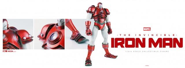 ThreeA Toys Silver Centurion Iron Man Figure
