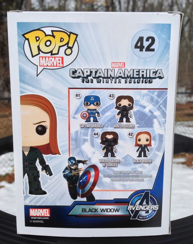 Funko POP Vinyls Black Widow Winter Soldier Box Back
