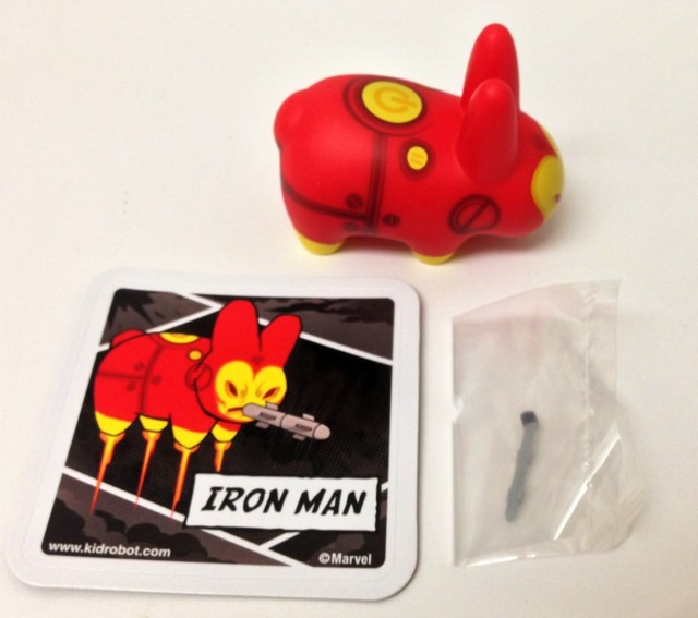 KidRobot Iron Man Labbits Figure with Missile and Collector Card
