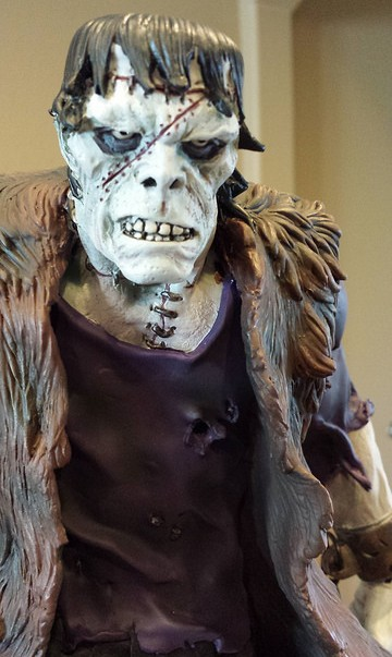 Bowen Designs Frankenstein Statue Close-Up Head