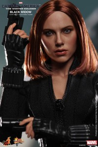 Captain America The Winter Soldier Hot Toys Black Widow Scarlett Johansson Head Close-Up