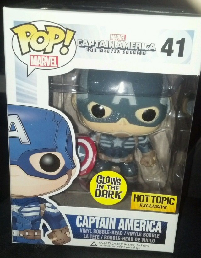 Funko Glow in the Dark Captain America POP Vinyls GITD Figure