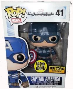 Glow in the Dark Funko POP Vinyls Captain America Winter Soldier Figure