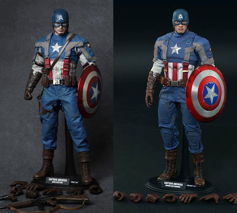 Hot Toys Captain America Golden Age Movie Promo SOLD OUT ...