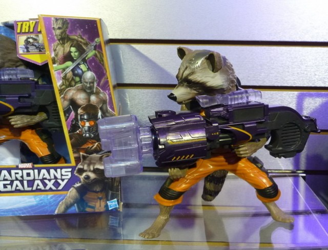 Toy Fair 2014 Big Blastin Rocket Raccoon Guardians of the Galaxy Electronic Figure
