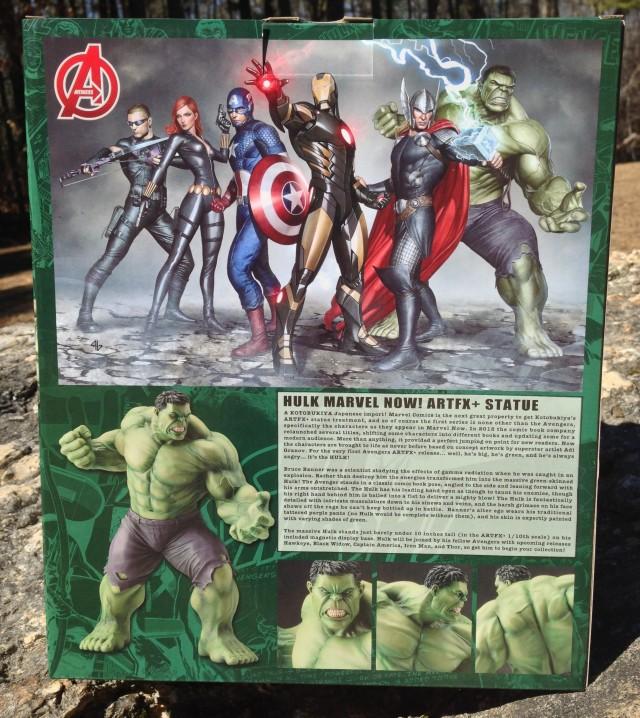 Back of Kotobukiya Hulk ArtFX+ Statue Box
