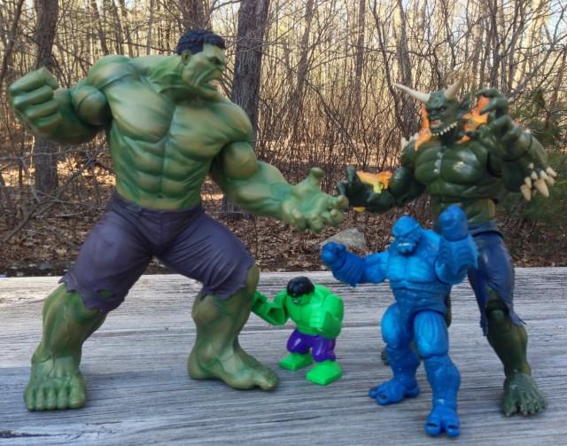 Avengers Now Hulk Kotobukiya Statue Size Comparison with Hasbro Marvel Universe Legends