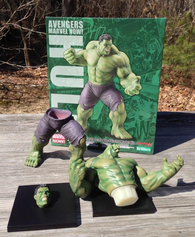Kotobukiya Avengers Hulk Statue Unassembled Pieces
