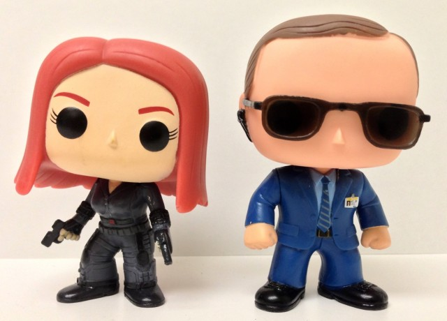 Funko Agent Coulson and Black Widow POP Vinyls Figures