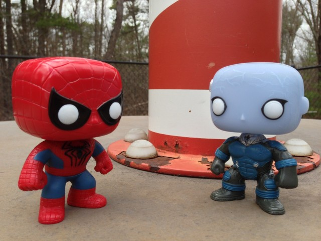 Amazing Spider-Man 2 Funko POP! Vinyls Electro vs. Spiderman