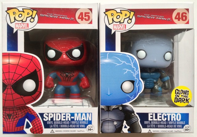 Funko Amazing Spider-Man 2 POP Vinyls Packaged Spidey & Electro