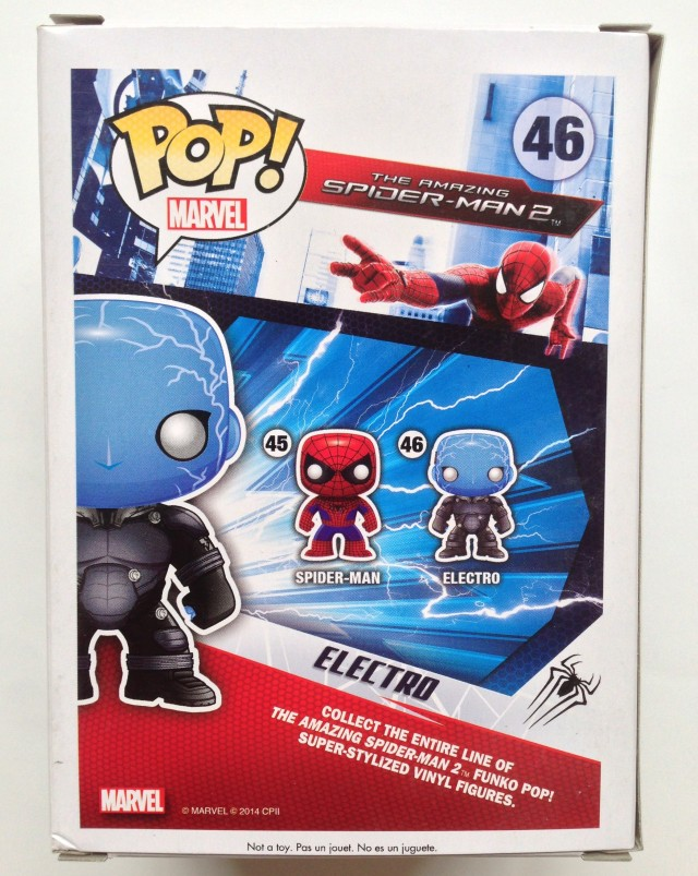 Box Back Funko POP! Vinyls Amazing Spider-Man 2