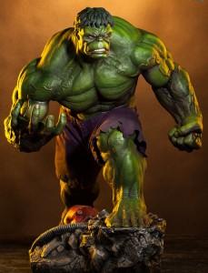 Green Hulk Premium Format Figure Sideshow Exclusive Edition Extra Head Portrait Sculpt