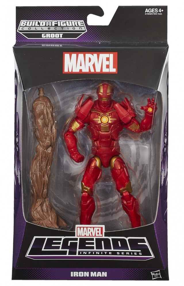 Guardians of the Galaxy Marvel Legends Iron Man Figure Packaged