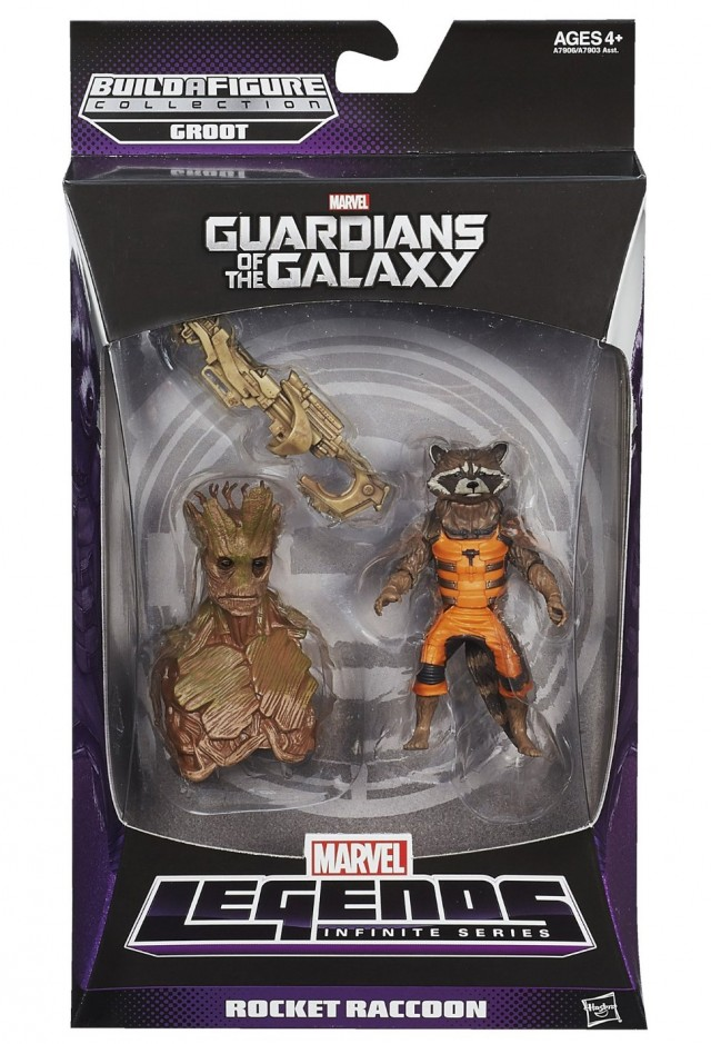 Marvel Legends Guardians of the Galaxy Rocket Raccoon Figure Packaged