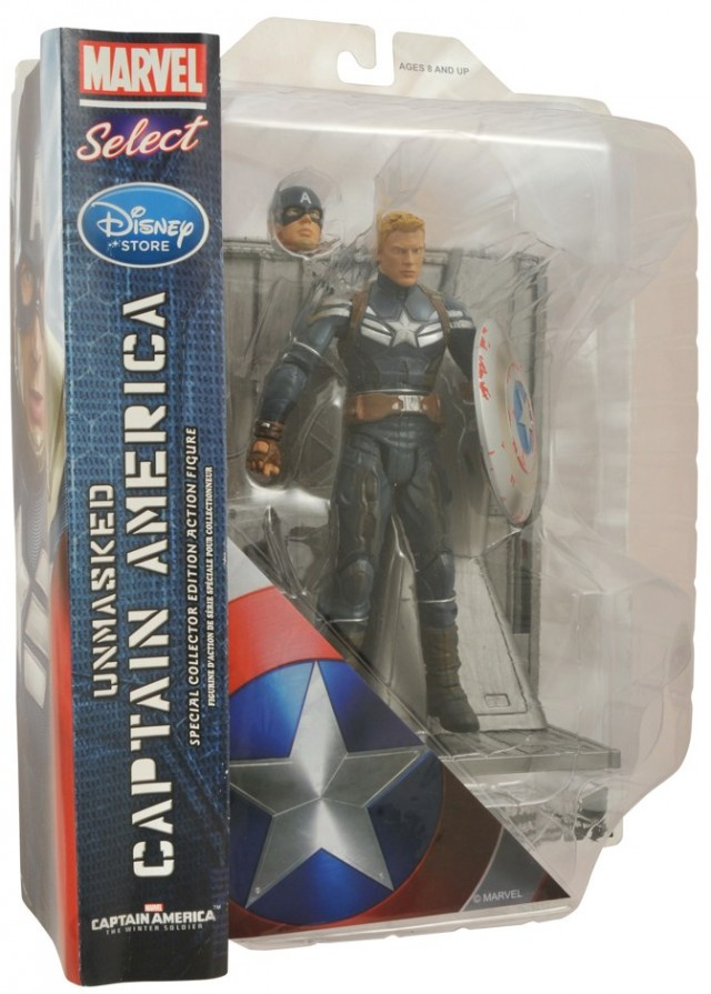 Marvel Select Unmasked Captain America Figure Exclusive Packaged
