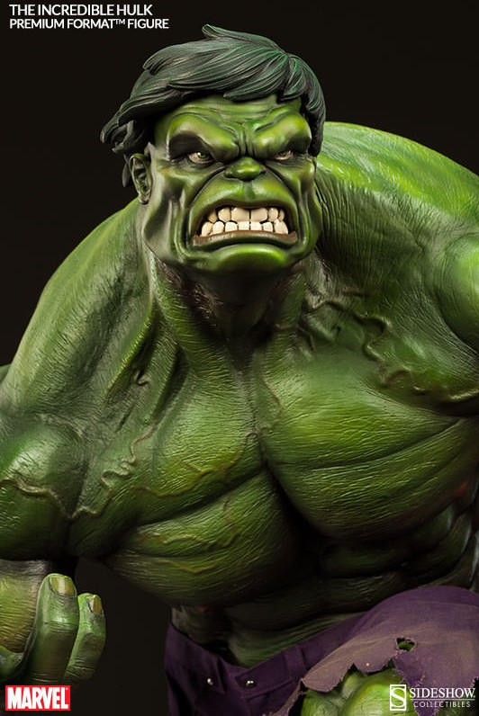 Premium Format Hulk Green Statue 2014 Sideshow Collectibles