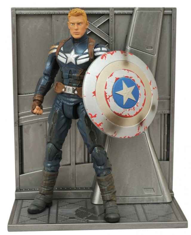 Unmasked Captain America Marvel Select Exclusive Action Figure
