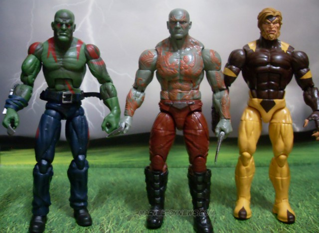 2014 Marvel Legends Drax Comparison with 2012 Marvel Legends Drax