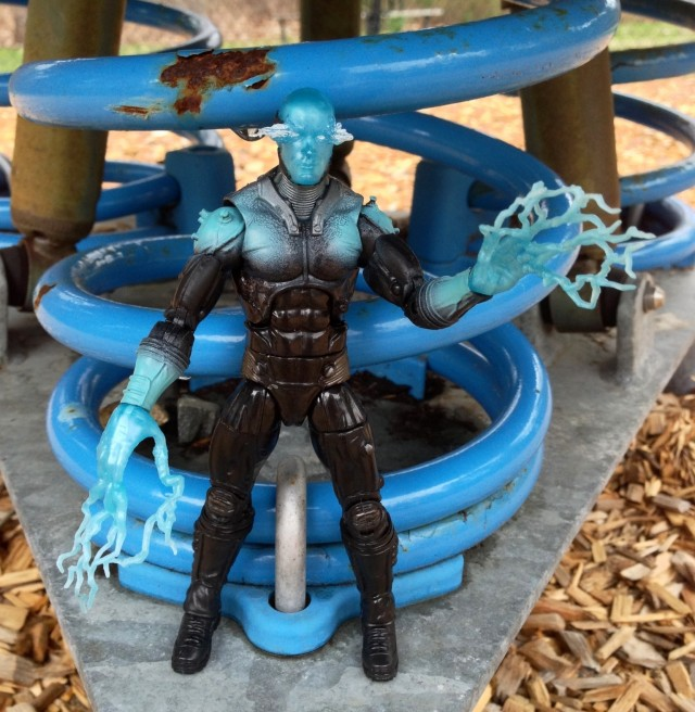 Hasbro Electro Marvel Legends Figure in Front of Conduit