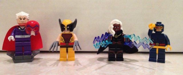 76022 LEGO X-Men vs. The Sentinel Minifigures Wolverine Storm Cyclops Magneto