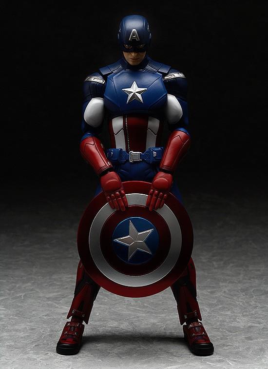 Captain America Avengers Figma Action Figure Holding Shield