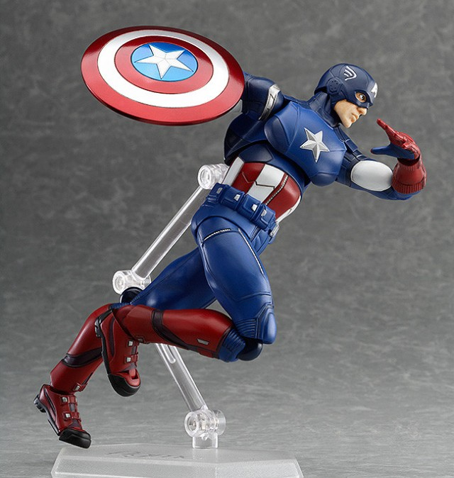 Captain America Figma Figure from The Avengers Running