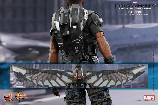 Captain America The Winter Soldier Hot Toys Falcon Wings and Backpack