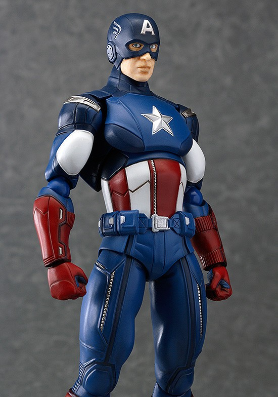Close-Up of Figma Captain America Avengers Action Figure
