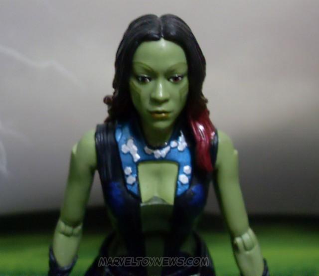 Gamora Marvel Legends Guardians of the Galaxy Figure Close-Up
