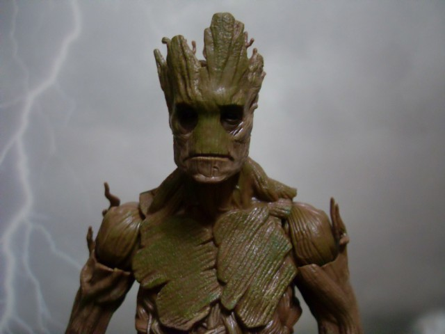 Groot Marvel Legends Build-A-Figure Close-Up Photo