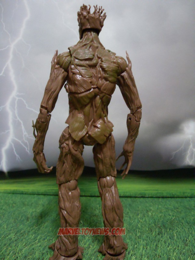 Guardians of the Galaxy Marvel Legends Groot Figure Back View