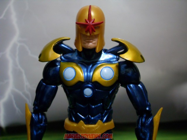 Guardians of the Galaxy Marvel Legends Nova Figure Close-Up