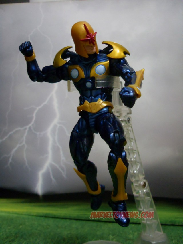 Hasbro Marvel Legends 2014 Nova Action Figure Flying