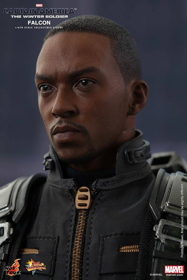 Hot Toys Anthony Mackie Head Sculpt Portrait from The Falcon Hot Toys Figure