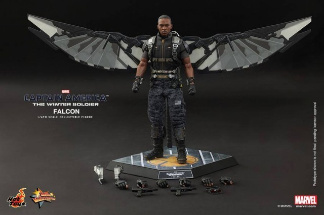 Hot Toys The Falcon Figure and Accessories