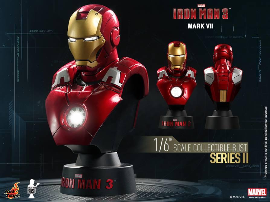 Hot Toys Iron Man 3 Series 2 Busts Revealed Amp Photos