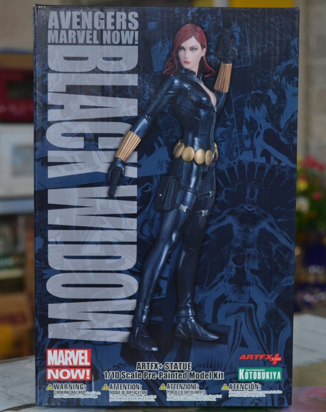 Kotobukiya Avengers Black Widow ARTFX+ Statue Box Packaging