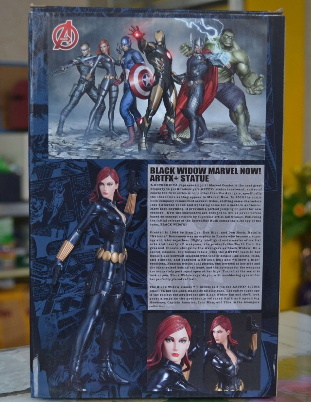 Kotobukiya Black Widow Statue Box Back