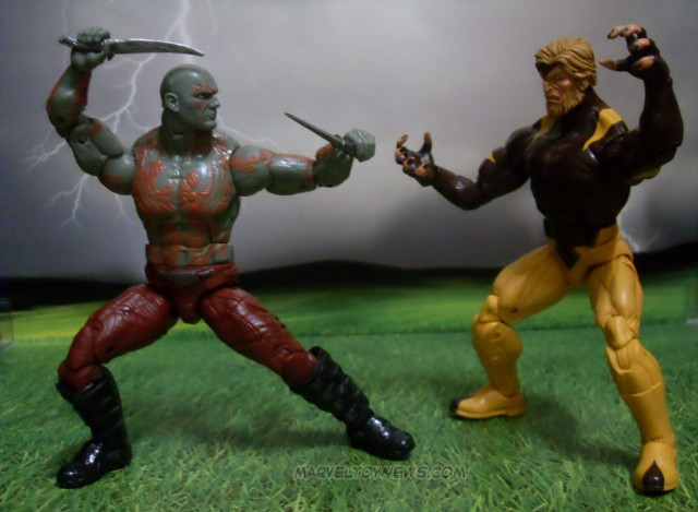 Marvel Legends 2014 Drax Movie Figure vs. Sabertooth Hasbro Figures