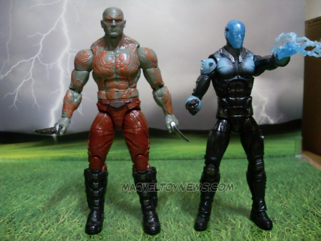 Marvel Legends 2014 Electro and Drax Size Comparison Photo