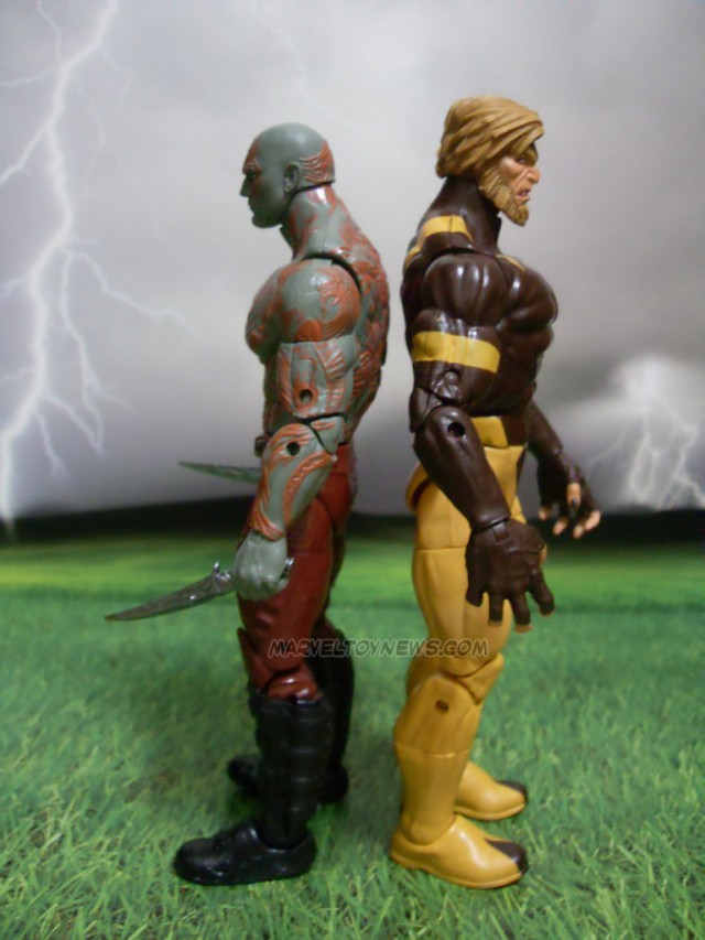 Marvel Legends GOTG Drax Sabertooth Size Comparison Photo