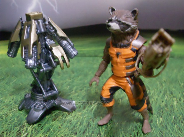 Marvel Legends GOTG Rocket Raccoon Figure In Hand Photos