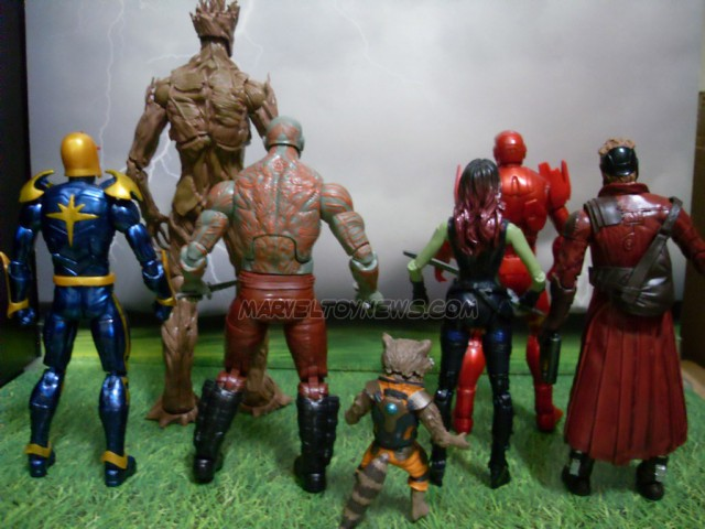 Marvel Legends Guardians of the Galaxy Figures Size Comparison Photo