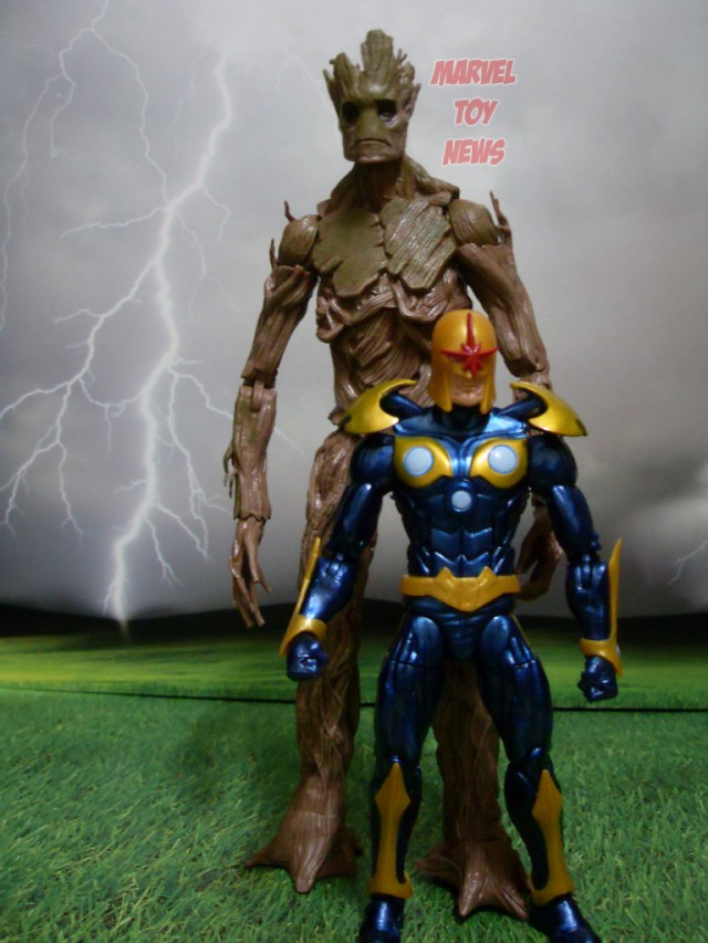 Marvel Legends Guardians of the Galaxy Groot Nova Size Comparison Scale Photo