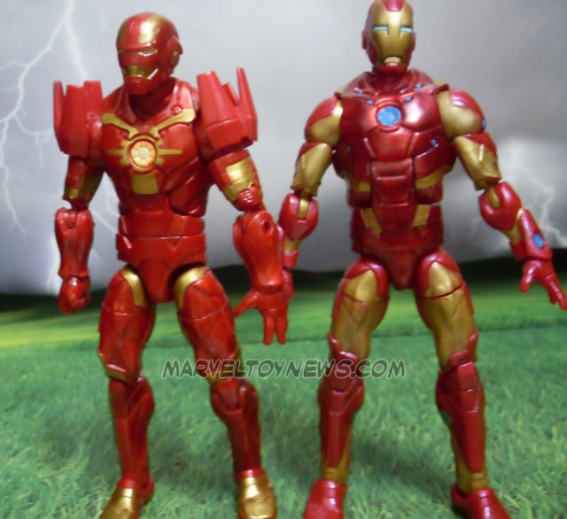 Marvel Legends Guardians of the Galaxy Iron Man Comparison Photo