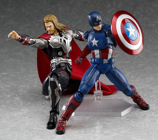 The Avengers Figma Captain America and Thor Figures