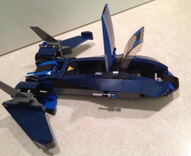 X-Men LEGO Blackbird Jet Set with Hatch Open